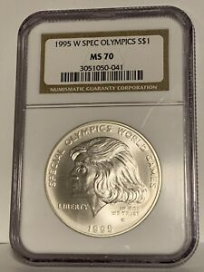 1995-W $1 Special Olympics Commemorative Dollar NGC MS70