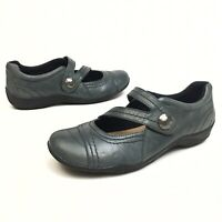 @@ Clarks Artisan Mary Jane's Women's Shoes Sz 9.5M Leather Driving Loafer Flats