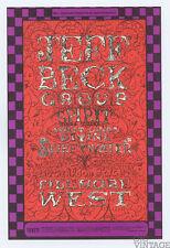 Bill Graham 148 Postcard Jeff Beck Group Spirit Linda Tillery 1969 Dec 5
