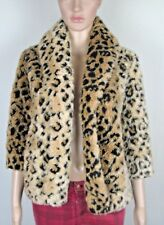 "Faux Leopard-skin hip length jacket DESIGNERS CLOSET by BILLABONG S 34"" Chest"