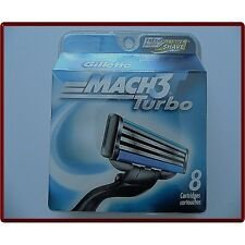 Gillette Mach3 Turbo Cartridges, 8-Count Made In Germany