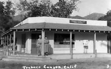 Old Photo. Trabuco Canyon, California. Trading Post - people