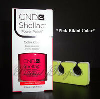 CND Shellac Pink Bikini Color LED/UV Gel Polish .25oz New With Box + BONUS ITEM