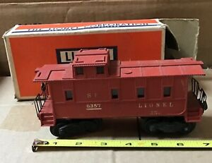 LIONEL CABOOSE 6357 WITH BOX POSTWAR O SCALE