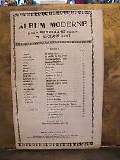 Partition Album Moderne pour Mandoline ou violon seul A Durand