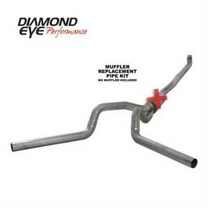 "Diamond Eye Dual 4"" Turbo-Back Exhaust No Muffler SS for GM Duramax 6.6L 01-07"