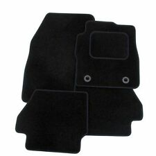 SEAT LEON MK2 2005-2009 TAILORED CAR FLOOR MATS- BLACK WITH BLACK TRIM