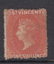 SG 24 St Vincent 1875-78. 1/- vermilion.- mint no gum