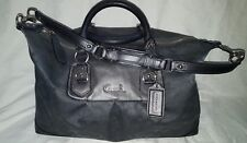 Coach Handbag Ashley F18775 Charcoal Gray Leather Large Shoulder Bag Purse