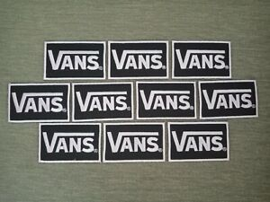 10 pcs Color black Vans Logo Badge Sew Iron on Embroidered Patch on Hat