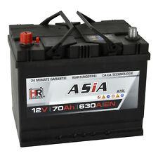 Autobatterie 12V 70Ah 630A/EN A70L PKW ASIA Japan Pluspol Links Starterbatterie