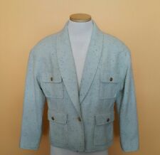 Vintage Chanel Crop Blazer Jacket Women Size 42