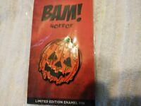 Bam Box Horror Halloween III Season The of Witch Pumpkin Jack o Lantern Pin MINT