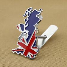 Metal British England Car Front Grille UK Map Emblem Solid Badge W/ Screw Kits