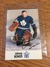 1988 ESSO NHL ALL-STAR COLLECTION JOHNNY BOWER STAMP STICKER FRENCH ENGLISH