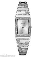 Guess Ladies Silver Dial Bangle Bracelet Quartz Watch U12548L1