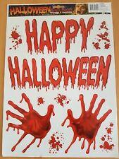 Happy Halloween sangue Mani Decalcomanie Muro Spaventoso Vinile Adesivo LIVING rimovibile UK
