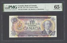 Canada 10 Dollars 1971 BC-49a Uncirculated Graded 65