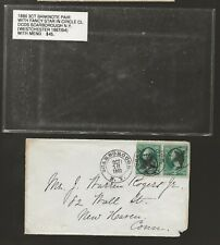1880 Scarborough NY Fancy Cancel Cover to Ct, Stars in Circles