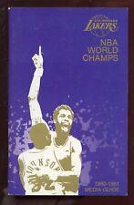 1980/1981 NBA Basketball Los Angles Lakers Media Guide EXMT