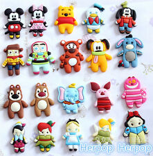 50 Pcs Cartoon mixkey Soft Jewelry Making Phone Case DIY Deco Flatbacks
