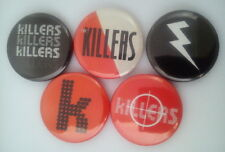 "5 x The Killers 1"" Pin Button Badges ( band music hot fuss sam's town sawdust )"