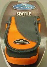 Compact Camera Case/Pouch/Bag Lanyard Belt Hook & Loop M/Card Pocket Grey/Orange