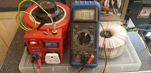 TRANSFORMER 230V AC 1300VA TOROIDAL 2 x70 VOLTS 2 x18 VOLTS TESTED 2U RACK MOUNT