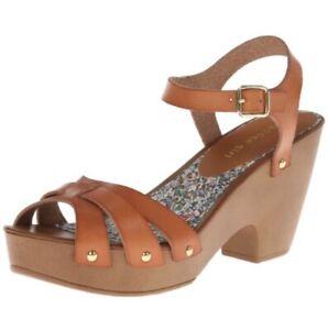 Madden Girl 10M Tan Platform Sandals CINDIEE BOHO Ankle Strap VEGAN