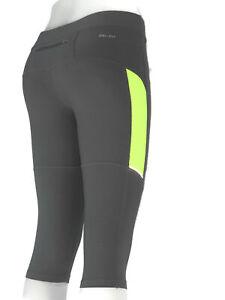 Nike Skinny Running Workout Yoga Leggings Womens Sz S Gray Tights w Drawstring
