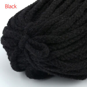 100yards Braided Cotton Rope Macrame Cord Colored Twisted 5mm Thread String