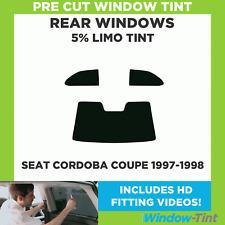 Pre Cut Window Tint - SEAT Cordoba Coupe 1997-1998 - 5% Limo Rear