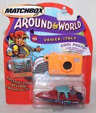 "NEW Matchbox AROUND THE WORLD ""VENICE ITALY~SPEEDBOAT"" #22 OF 36 IOP"