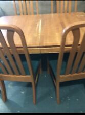 East West Furniture DLNO5-BCH-W Dining Set 4 Chairs and Dining Table - Black and