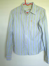 HOLLISTER Button Up Women's Shirt Blue - striped  Sz L