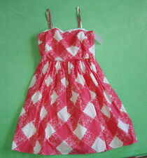Boden white pink party dress for women size UK 14 EUR 40, 100% cotton
