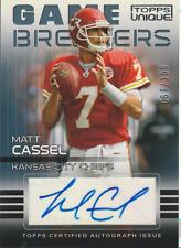 Matt Cassel 2009 Topps Unique Game Breakers auto autograph card GA-MC /100