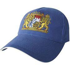 Gorra de Béisbol con Bordado Algodón Visera Escudo Baviera Nuevo 68082 Azul