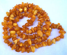 Natural Butterscotch Baltic Amber Nuggets Beads Necklace 36.2gr