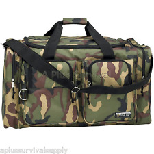 "26"" Heavy Duty Camouflage Survival Kit Tote Duffle Bag Camping Hunting Bug Out"