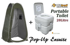 OZTRAIL PORTABLE (20 LITRE) CAMP CAMPING OUTDOOR TOILET POP UP PRIVACY ENSUITE