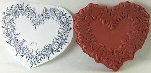 "Valentine Flower Heart Shaped Wreath PSX Rubber Stamp Unmounted 2"""