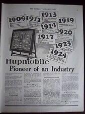 1924 Vintage Hupmobile Hupp Motor Car Piioneer of an Industry Ad