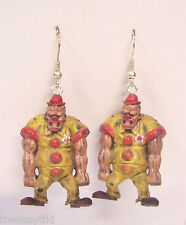 Walking Dead-like Zombie Planet Apocalypse Zombie the Clown Dangle Earrings