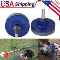 2Pcs Universal Lawnmower Blade Sharpener Faster Garden Tool Sickle Rotary Drills