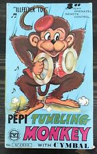 Yanoman ILLFELDER Pepi Tumbling Monkey with Cymbal W/ Box & Original Sticker