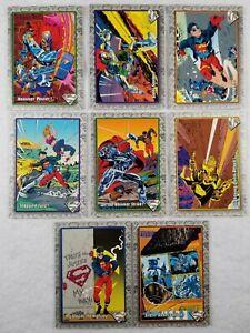 1993 The Return Of Superman (Skybox) Trading Card Set Lot Of 8 - DC Comics