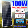 100W 18V Mono Solar Panel DC 12/5V Battery Charger Dual USB + 10A Controller