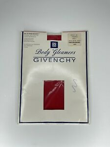 VTG Givenchy Shimmery Red Pantyhose Body Gleamers Control Top Style 157 Size C