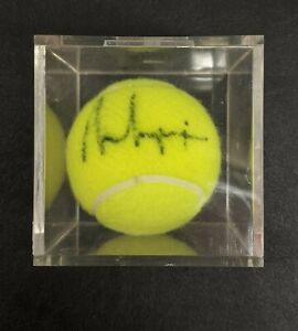 ANDRE AGASSI Signed Wilson US Open Tennis Ball Autograph Auto COA
